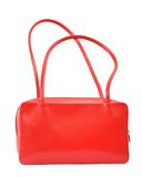 Red Leather Handbag Royalty Free Stock Photography