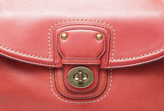 Red Leather Handbag Royalty Free Stock Images