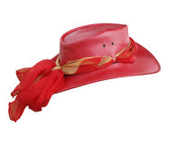 Red Leather Hat Royalty Free Stock Image