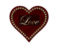 Red Leather Heart Royalty Free Stock Image