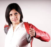 Red leather jacket Stock Images