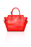 Red Leather Ladies handbag Stock Photo