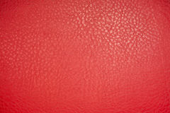 Red leather material texture background. Close up Royalty Free Stock Image