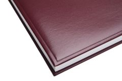 Red leather notebook Royalty Free Stock Images