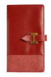 Red leather notebook Royalty Free Stock Photo