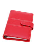Red leather notebook Royalty Free Stock Image