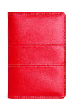 Red leather notebook Stock Images