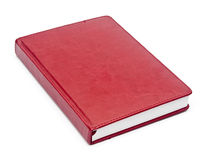 Red leather notebook Stock Photos