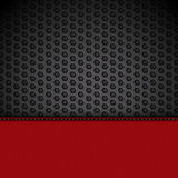 Red leather panel on black mesh landscape Royalty Free Stock Images