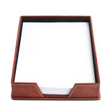 Red leather paper holder box Royalty Free Stock Photos