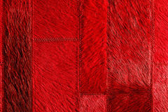 Red leather patchwork Stock Image