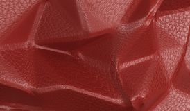 Red Leather Pattern Background Closeup Royalty Free Stock Photos
