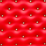 Red leather pattern with knobs Royalty Free Stock Images