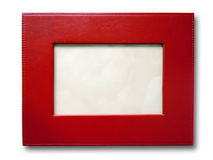 Red Leather Picture Frame Royalty Free Stock Photo