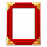 Red leather picture frame Royalty Free Stock Images
