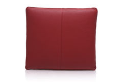Red leather pillow Stock Images