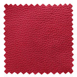 Red leather samples texture Stock Photos