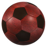 Red leather soccer ball high resolution isolated on a white background Stock Image