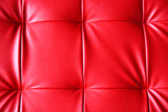 Red leather of sofa Royalty Free Stock Photo