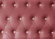 Red leather sofa background Royalty Free Stock Photography
