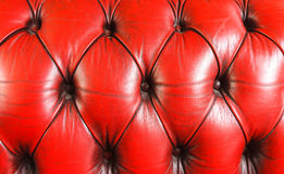 Red leather sofa Stock Photography