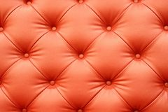 Red leather sofa Stock Image