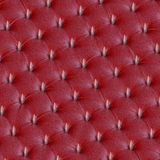 Red leather spike design upholstery Royalty Free Stock Images