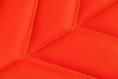 Red leather sport seats Stock Images