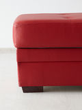 Red leather stool Royalty Free Stock Photos