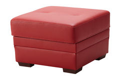 Red leather stool Royalty Free Stock Photo