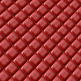 Red leather surface. Luxurious red colored upholstery for background and texture Royalty Free Stock Images