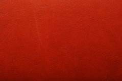 Red leather texture stock image