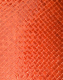 Red leather texture. Picture of a Red leather texture Royalty Free Stock Photography