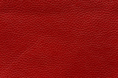 Red leather texture, abstract background Royalty Free Stock Photo
