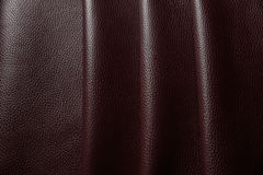 Red leather texture background close up macro Stock Photo