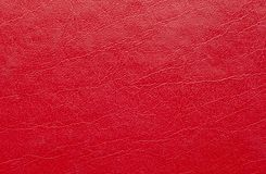 Red leather texture stock photo