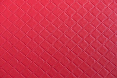 Red leather texture close up. Stock Images