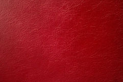 Red leather texture close-up. The horizontal frame Royalty Free Stock Images