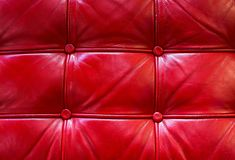 Red Leather Texture. Red colored leather texture with two vertical and two horizontal stripes Stock Photography