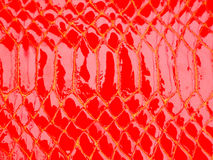 Red leather texture Royalty Free Stock Image