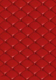 The red leather texture of the quilted skin Royalty Free Stock Photography