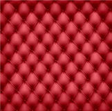 Red leather upholstery. Stock Image