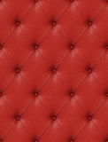 Red leather upholstery Royalty Free Stock Photo