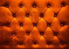 Red Leather upholstery buttoned sofa Royalty Free Stock Photos