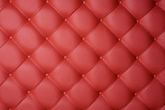 Red leather upholstery. Red leather carriage upholstery as a background Royalty Free Stock Photos