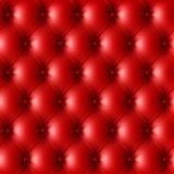 Red leather upholstery pattern Stock Photography