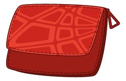 Red leather wallet Royalty Free Stock Photography