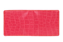 Red leather wallet Stock Photography