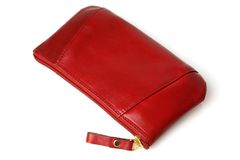 Red Leather Women Purse Royalty Free Stock Photo