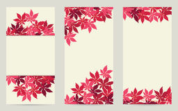 Red leaves banners Royalty Free Stock Images